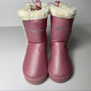 NET Bebe Girls Pink Boots w/ Faux Fur